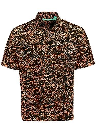 Artisan Outfitters Santa Monica Batik Cotton Shirt (4XLT, Auburn Russet) AO118-1006-4XLT Auburn Santa