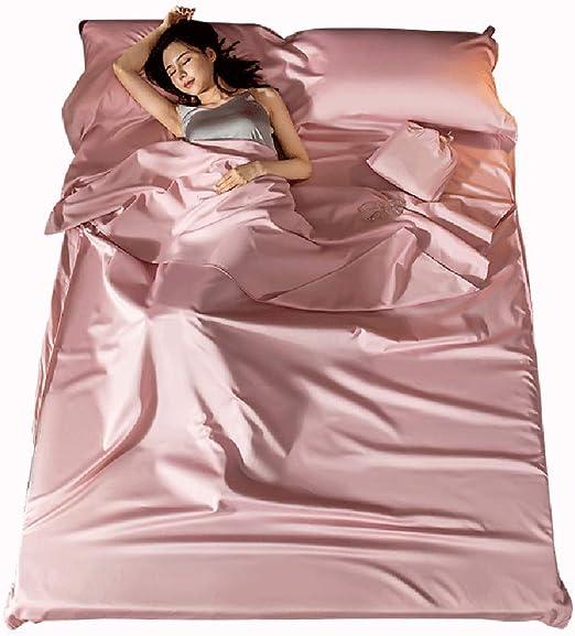 DPFXNN Forro de Saco de Dormir, sábana de Dormir de algodón Suave ...