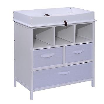 Costzon Infant Changing Table Baby Diaper Platform Nursery Station  W/Storage Basket (White)