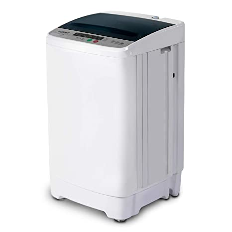 more photos ccdae ffa87 Amazon.com: Full-Automatic Portable Washing Machine, KUPPET Compact  Multi-functional Laundry, 8lbs Washer&Spin/Top Load Panel/Child Lock/Mini  Washer: ...