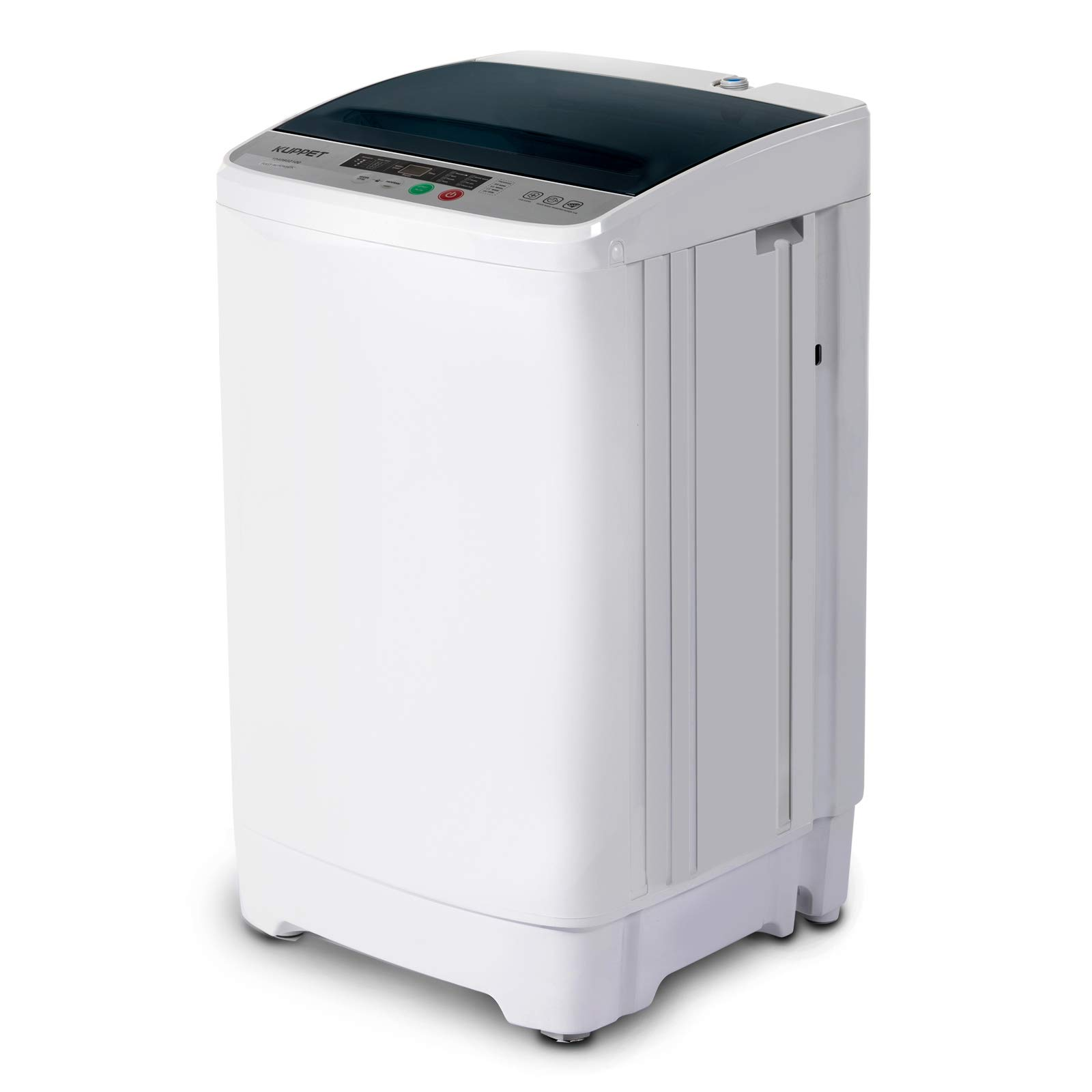 Full-Automatic Portable Washing Machine, KUPPET Compact Multi-functional Laundry, 8lbs Washer&Spin/Top Load Panel/Child Lock/Mini Washer