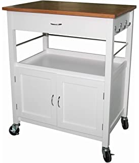 mobile kitchen island. eHemco Kitchen Island Cart Natural Butcher Block Bamboo Top with White Base Amazon com  Oliver and Smith Nashville Collection Mobile