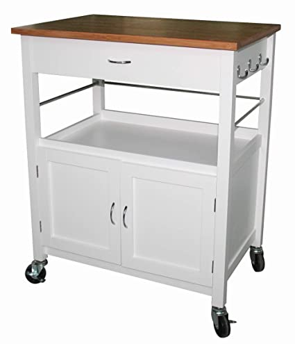 amazon com ehemco kitchen island cart natural butcher block bamboo