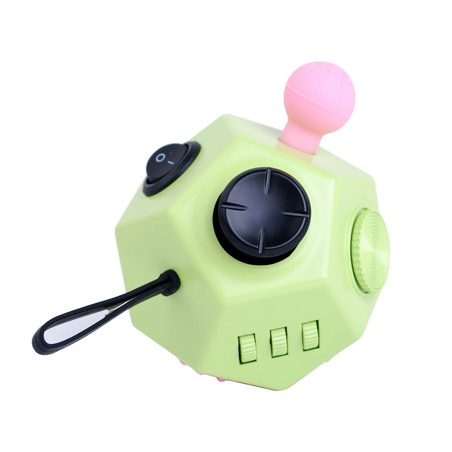 Fidget Cube Toys, Relieves Stress and Increases Focus for Adults and Children with ADHD ADD OCD Autism - 12 Sides Fidget Dice (Green) by BSL (Image #3)
