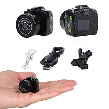 YENJOS Cámaras espía,Mini DV Sport Micro Cámara Digital DVR Video Voice Recorder Camcorder hasta 32 GB: Amazon.es: Electrónica
