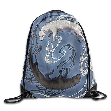 Amazon.com: Yin Yang tigre Kawaii gran capacidad bolsa de ...