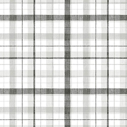 Plaid Wallpaper - Norwall CK36628 Linen Plaid Bolt Wallpaper