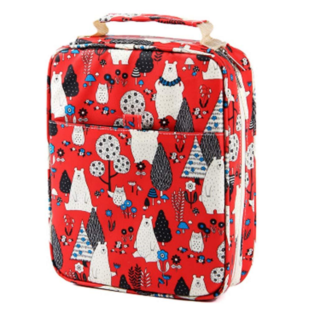 tbpersicwT 150-Slot Large Capacity Colored Pencil Case Cartoon Bag Pen Box Art Supplies Pouch Pencil Bag Pocket Protectors 3#