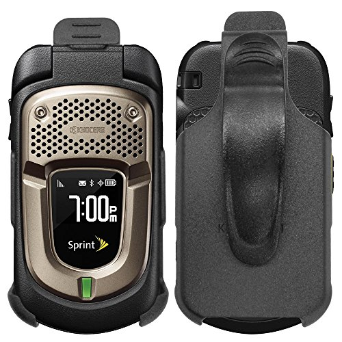 Ewirelessgear HOL-KYODURAXT for Sprint Kyocera DuraXT E4277 Swivel Belt Clip Holster - Black (Duraxt Clip)