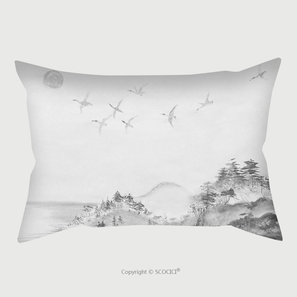 Custom Satin Pillowcase Protector Migration Of Ducks From Japan To The South 393608986 Pillow Case Covers Decorative
