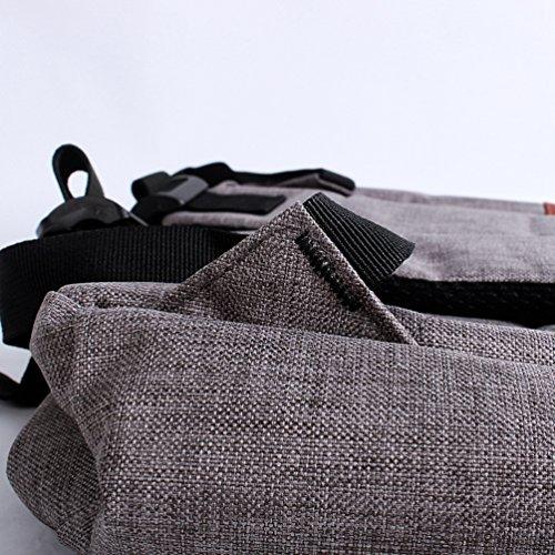 Backpack Escolares Vintage Aire Mochilas Hombres Lona Mochila ZKOO Viaje Mochila Libre de Bolsa Ocio al Gris Laptop Hombro Mujeres de De Mochila f8qw5Y5U