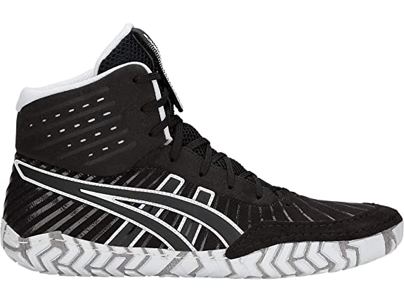 ASICS Men's Aggressor 4 Wrestling Shoes, 4M, Black/Black