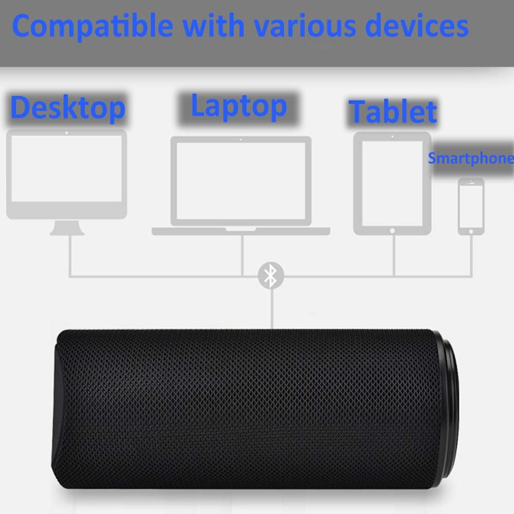 portable bluetooth stereo speaker support TF 3W+3W AUX mode Environmental protection materials for phone/computer (ML_JC180, ML_BLACK)