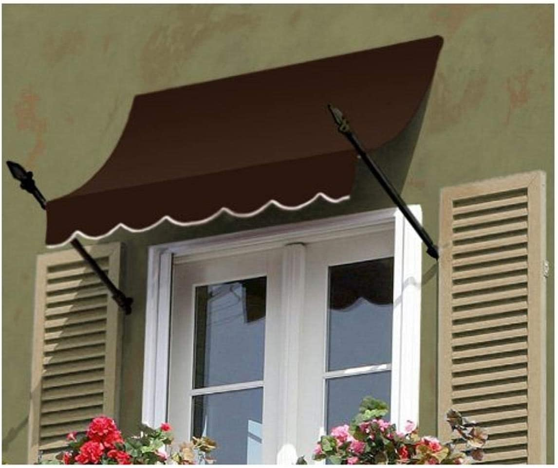 Amazon Com Awntech 6 Feet New Orleans Awning 31 Inch Height By 16 Inch Diameter Brown Other Products Garden Outdoor