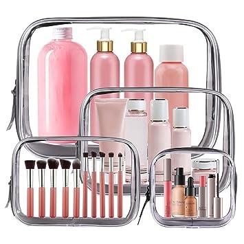 Amazon.com: 4 bolsas transparentes de maquillaje aprobadas ...