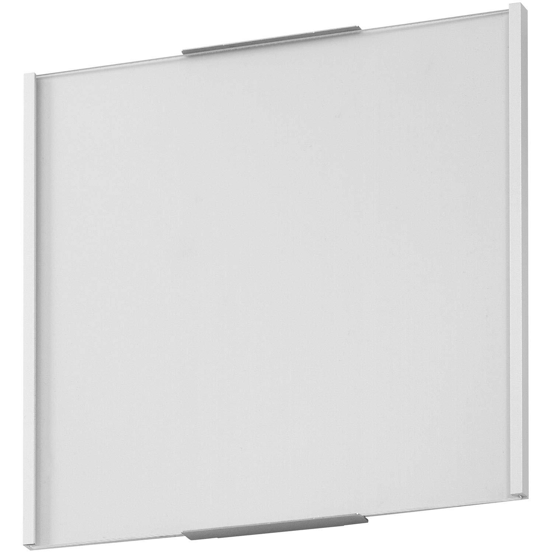 OSLO T/ürschild 150 T/ürschild B/üroschild Aluminium silber 148x151 mm entspiegelte Abdeckung