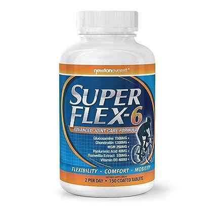 SUPERFLEX 6 150 Pastillas (Glucosamina + Condroitín + MSM + Ácido Hialurónico + Incienso + Vitamina D3)