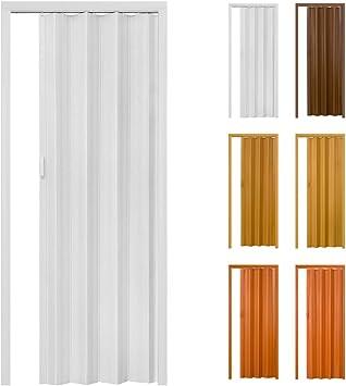 TecTake Puerta plegable de plástico PVC Puertas plegables Puerta corredera 80 x 203 cm - disponible en diferentes colores -: Amazon.es: Bricolaje y herramientas