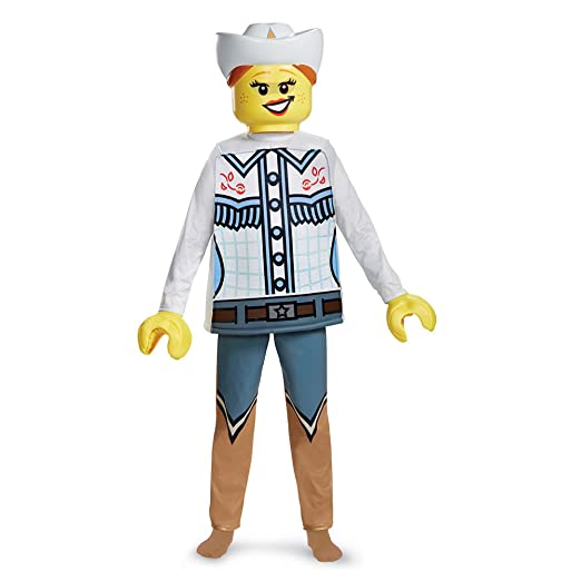 LEGO Cowgirl Deluxe Costume, Multicolor, Large (10-12)