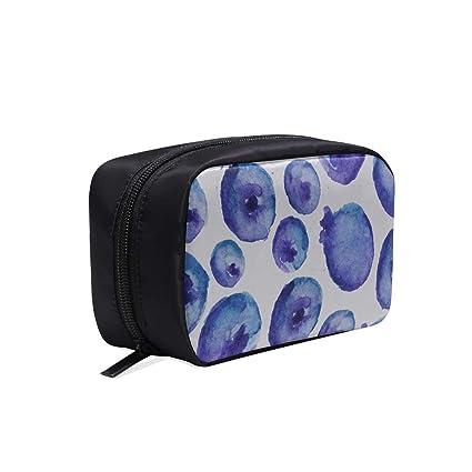 Bolso de baño fresco Azul brillante Maquillaje de arándano ...