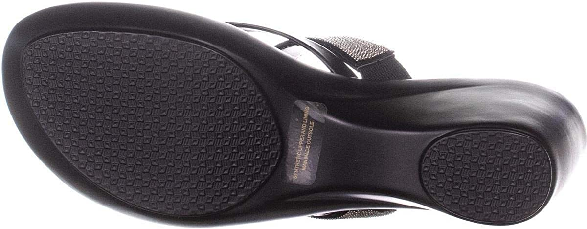 Size 9.0 Black Callisto Womens Elora Open Toe Beach Platform Sandals