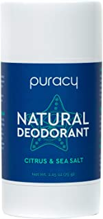 product image for Puracy Deodorant, All Day Odor Protection for Men and Women, Natural Deodorant, Citrus & Sea Salt, 2.65 oz
