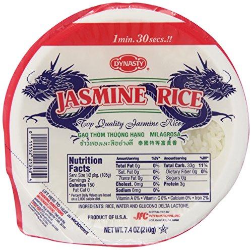 Dynasty Jasmine Cooked Rice, 7.40 Ounce by DYNASTY