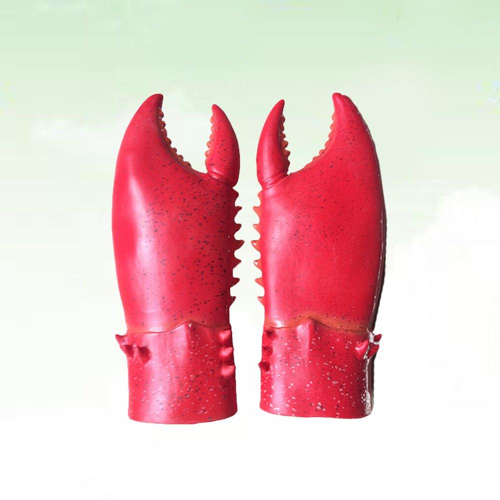 Toyvian Homard Griffes De Crabe D/éguisements Gants Costume Cosplay Gants en Latex Animaux Mains Effrayantes Mascarade Costumes De F/ête Accessoires Rouge