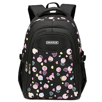 6ae383f608c6a Rieovo Schulrucksack Schulranzen Schultasche Rucksack Freizeitrucksack  Backpack für Mädchen Damen Herren Jugendliche mit der Großen Kapazität