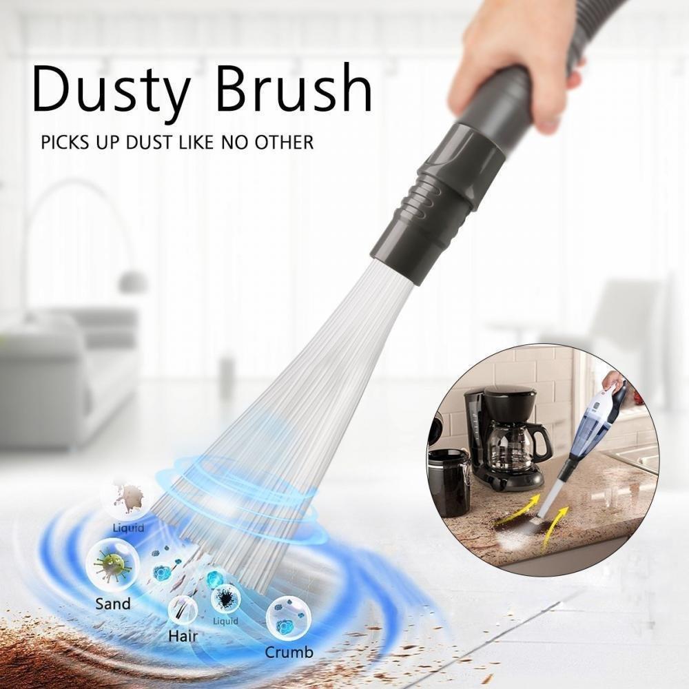 As Seen On TV Dusty Brush Spazzola di pulizia pennello applicando, Vacuum Attachment Cleaning Tools, Strumenti di pulizia per prese d' aria, tastiere, cassetti, Auto, attrezzi, artigianato, gioielli Strumenti di pulizia per prese d' aria STRLONG