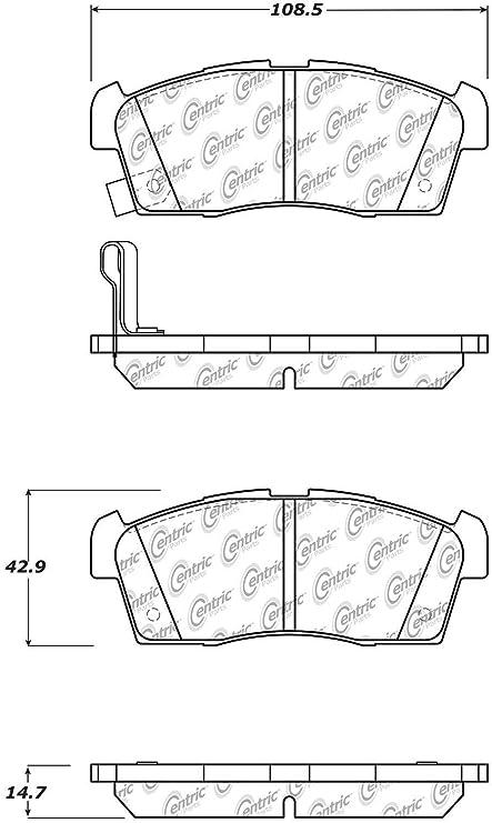 StopTech 105.16580 Brake Pad Ceramic