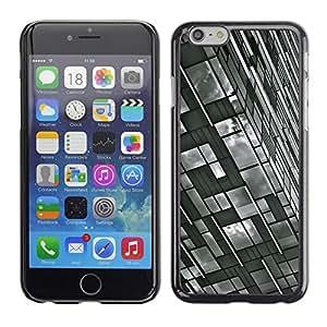 TopCaseStore / la caja del caucho duro de la cubierta de protección de la piel - Building White Black Engineering - Apple iPhone 6 Plus 5.5