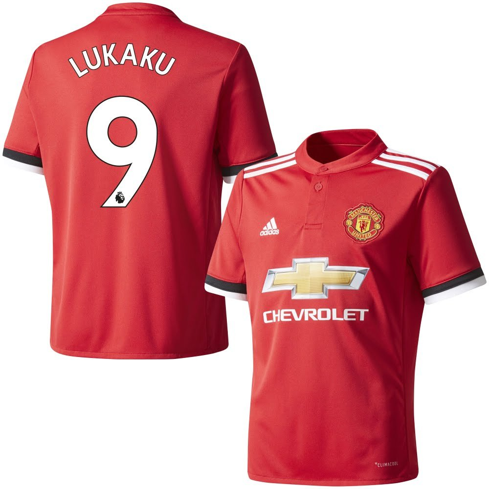 a840cbb9c Amazon.com   adidas Manchester United Home Lukaku Jersey 2017 208 (Authentic  EPL Printing)   Sports   Outdoors