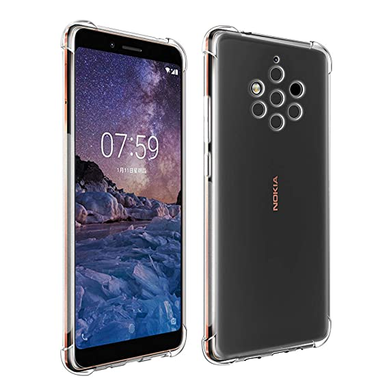 brand new f1252 9df0d Qoosea Compatible with Nokia 9 PureView Case Nokia 9 PureView Cover Clear  Case for Nokia 9 PureView