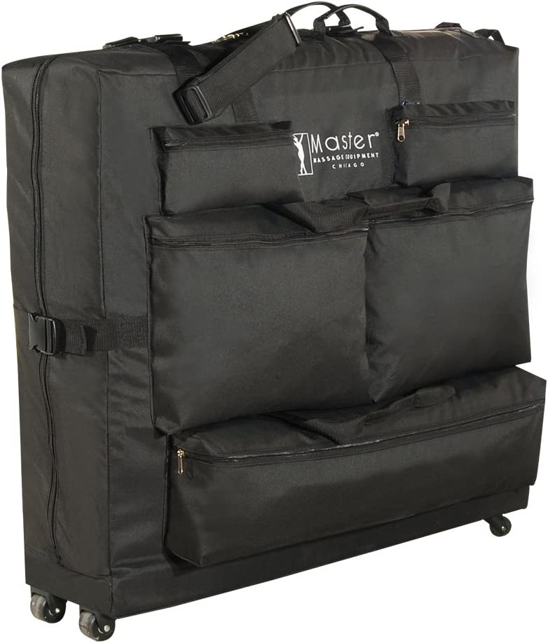 Master Massage Universal Wheeled Massage Table Carry Case,Bag for Massage Table,Black: Health & Personal Care