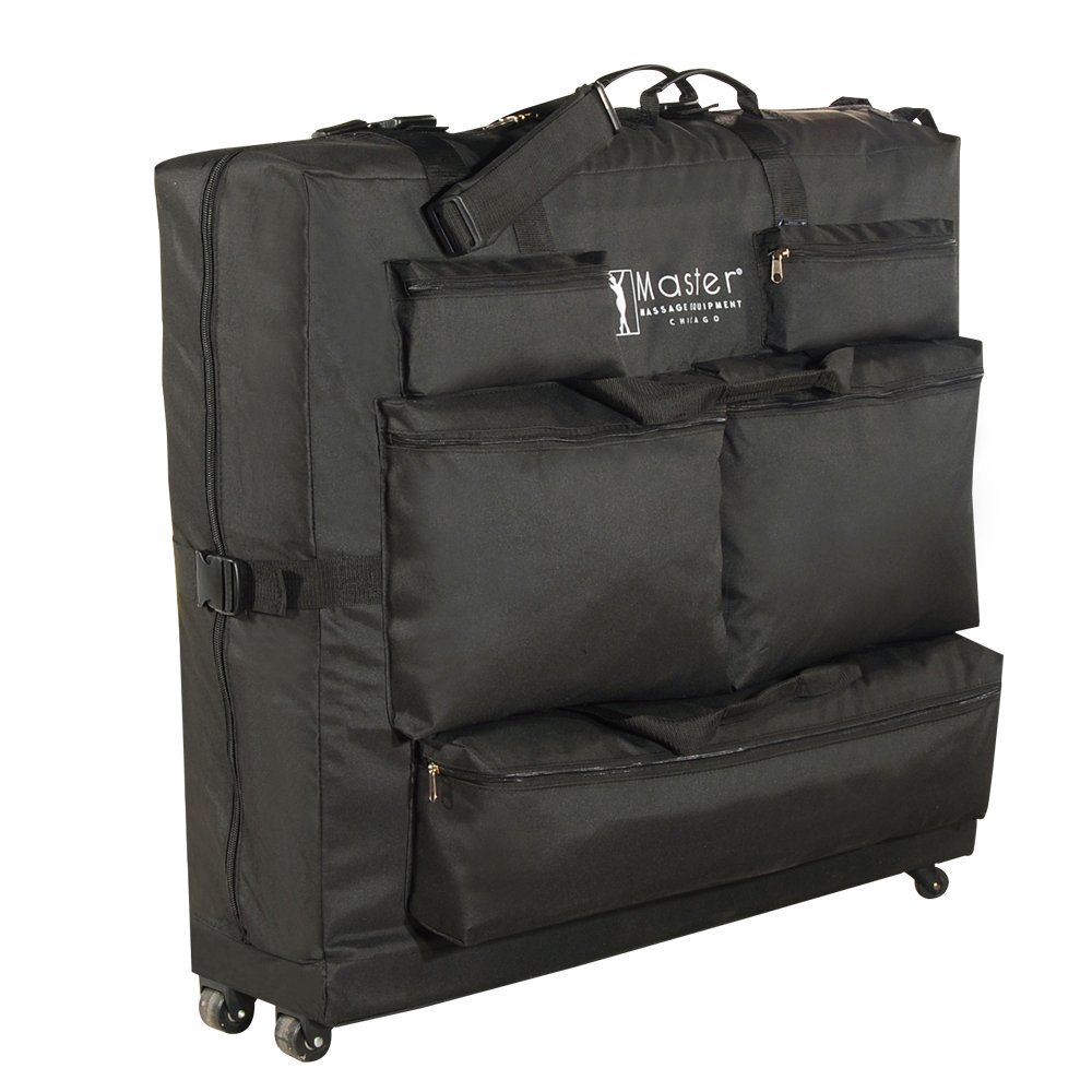 Master Massage Universal Wheeled Massage Table Carry Case,bag for Massage Table,Black MHP78799