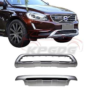 Ajuste para Volvo XC60 2013 – 2016 cromado ABS delantero parachoques trasero Junta Skid placa Bar