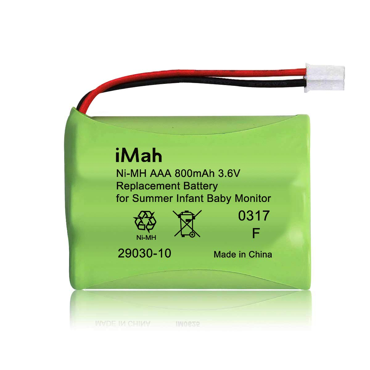 Replacement Ni-MH AAA 800mAh 3.6V Battery 29030-10 for Summer Infant Baby Monitor Wide View 28650 29000 29000A & Clear Sight 29040 29030 Parent Handheld