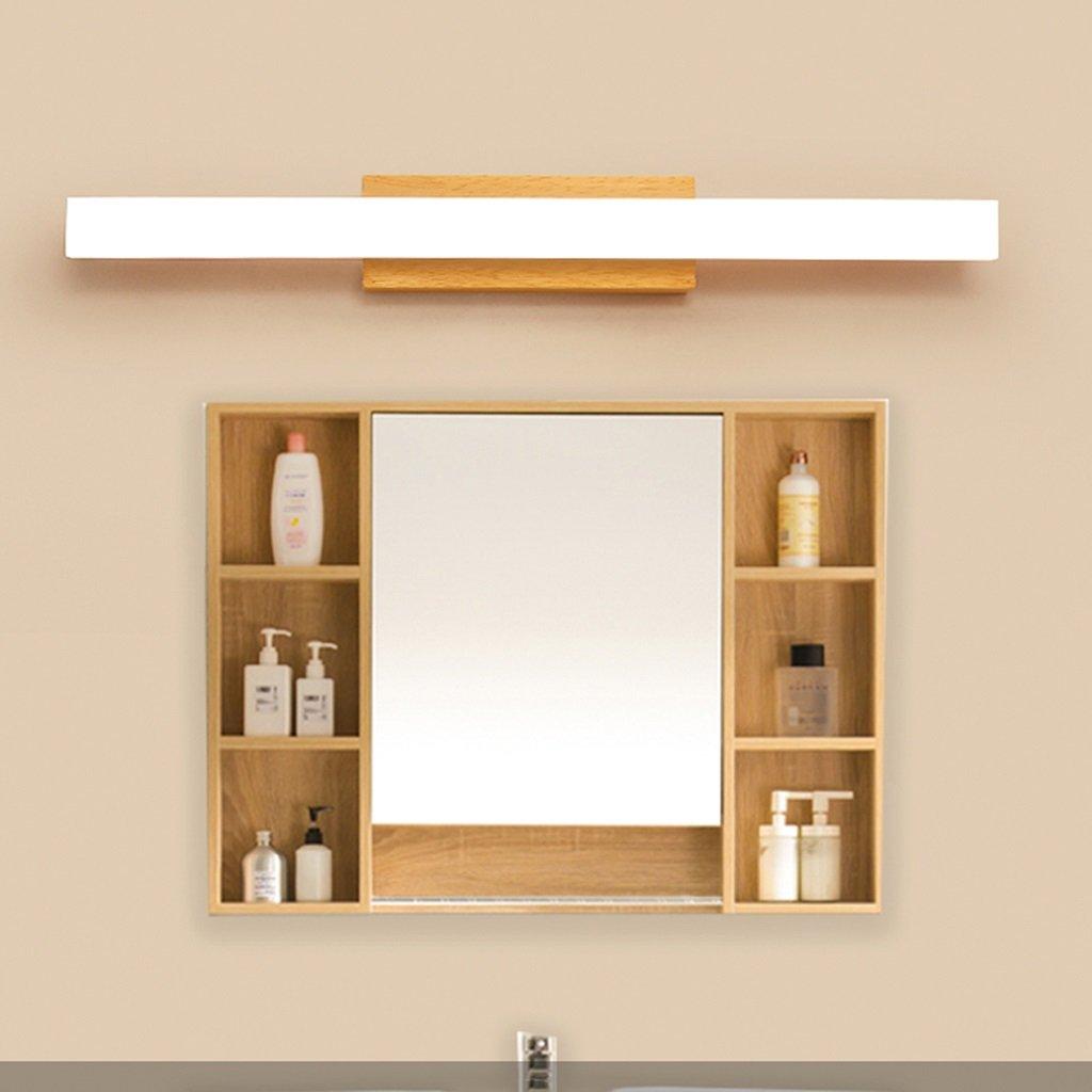 Solid Wood, Mirror Light, LED Wall Washer, Mirror Light Cabinet Light, Bathroom Simple Dresser Wall Light, Warm Light (Size : 60CM 10W) by Mingteng (Image #3)