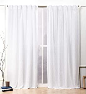 Nicole Miller Tangled Curtain Panel, 54x84, White, 2 Panels