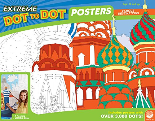 MindWare Extreme Dot to Dot Poster Set (Famous Destinations)