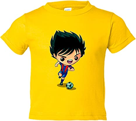 Camiseta niño Chibi Kawaii Oliver y Benji en el Barcelona parodia ...
