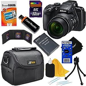 Nikon COOLPIX B700 20MP CMOS Wi-Fi, NFC Digital Camera with 60x Zoom & UHD 4K Video (Black) - International Version (No Warranty) + EN-EL23 Battery + 8pc 16GB Accessory Kit w/ HeroFiber Cleaning Cloth
