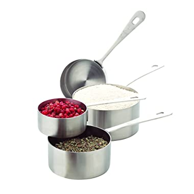 AMCO 864 B0000CFXHJ Stainless Steel Measuring Cups, Set of 4, Standard Silver