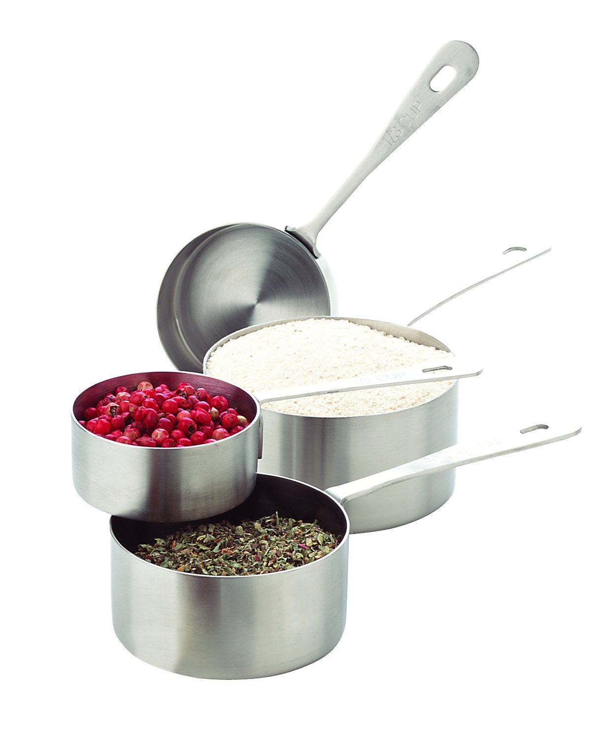 Amco Stainless Steel Measuring Cups, Set of 4