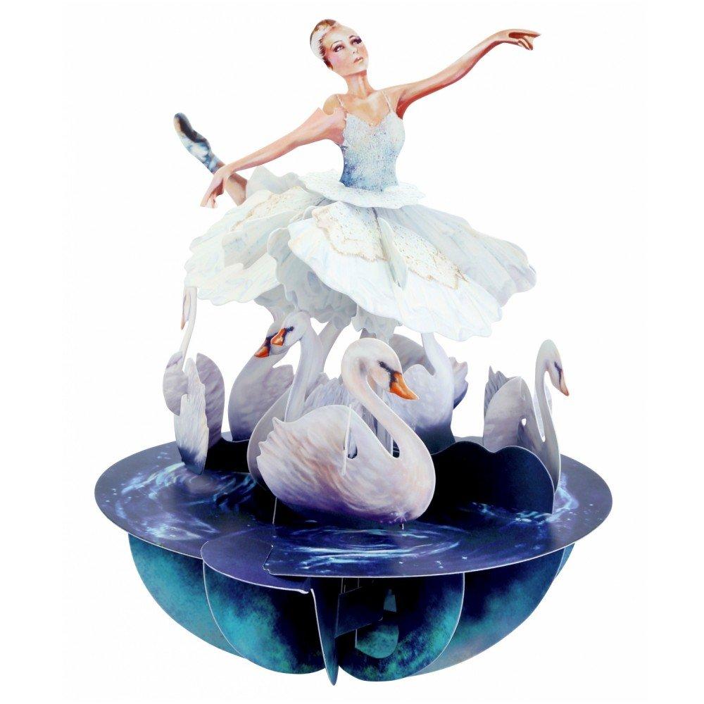 Santoro 3D Pirouette biglietto di auguri/ /PS064 /Swan Lake Ballet/
