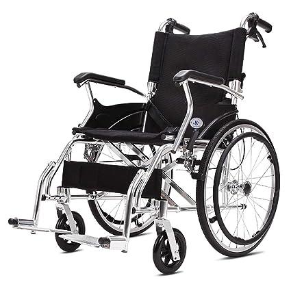 DPPAN Drive Medical Transport Silla de ruedas Carro plegable ligero, Aleación de aluminio que levanta