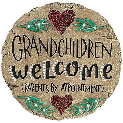 Carson Home Accents Beadworks Grandchildren Welcome Garden Stone (10154)