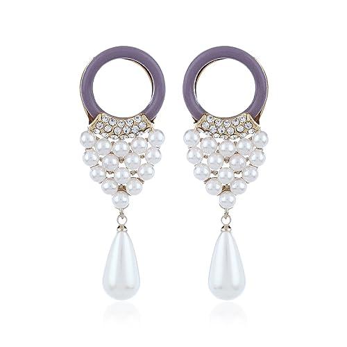 [Entrega en 8-12 días laborables] Fasherati perlas de color perla pendientes de gota para las mujeres: Amazon.es: Joyería