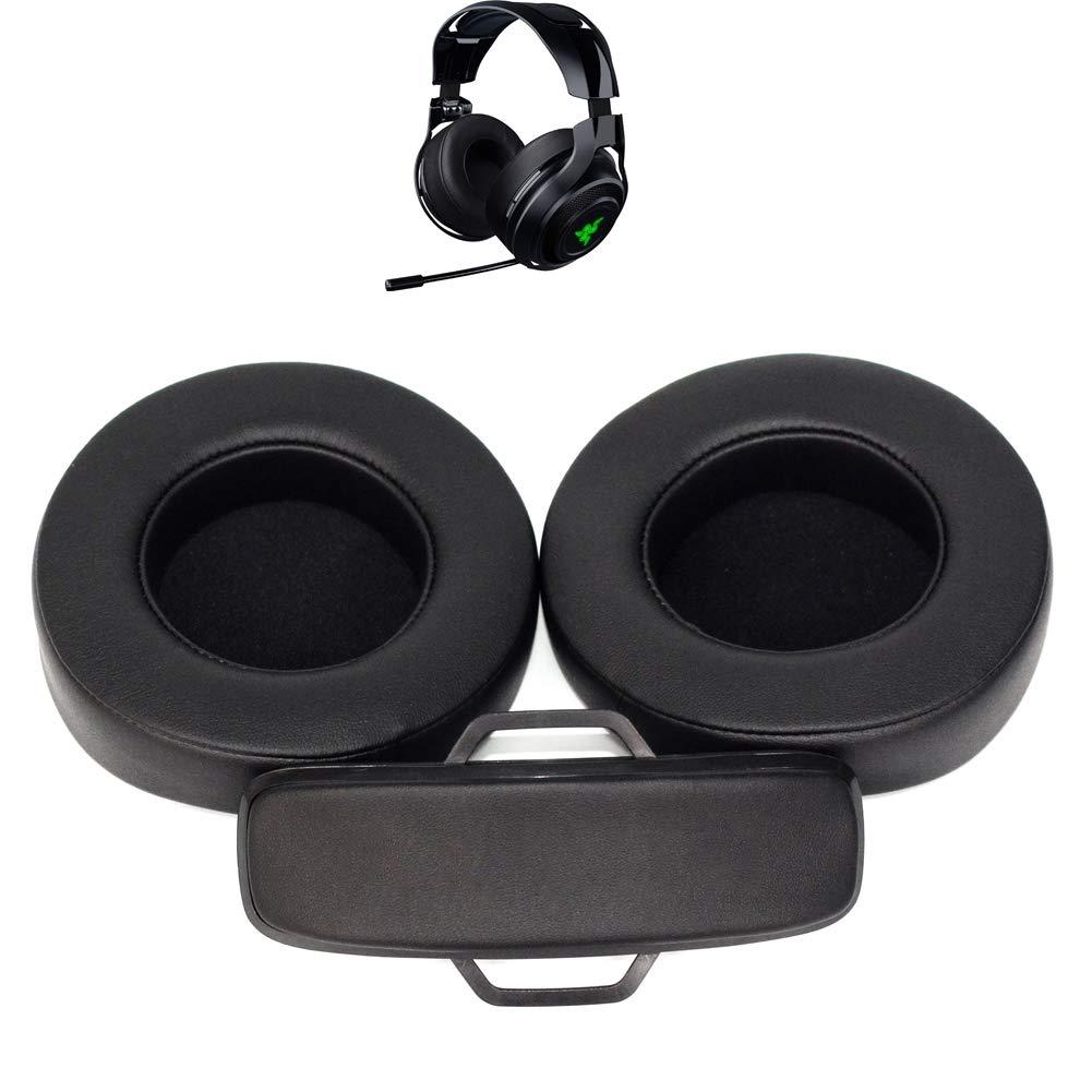 Almohadillas de Repuesto para Auriculares Diadema//Coche//Tazas//Almohadillas de reparaci/ón de Piezas compatibles con Razer ManOWar Wired//Wireless 7.1 Sonido Envolvente Auriculares para Juegos